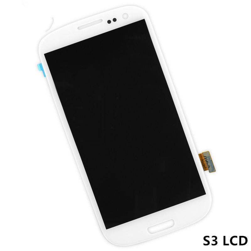 AAA Quality 2016 New LCD Lens Screen+Touch Digitizer Assembly For Samsung Galaxy S3 i9300 i9305 T999 I747 display Blue White