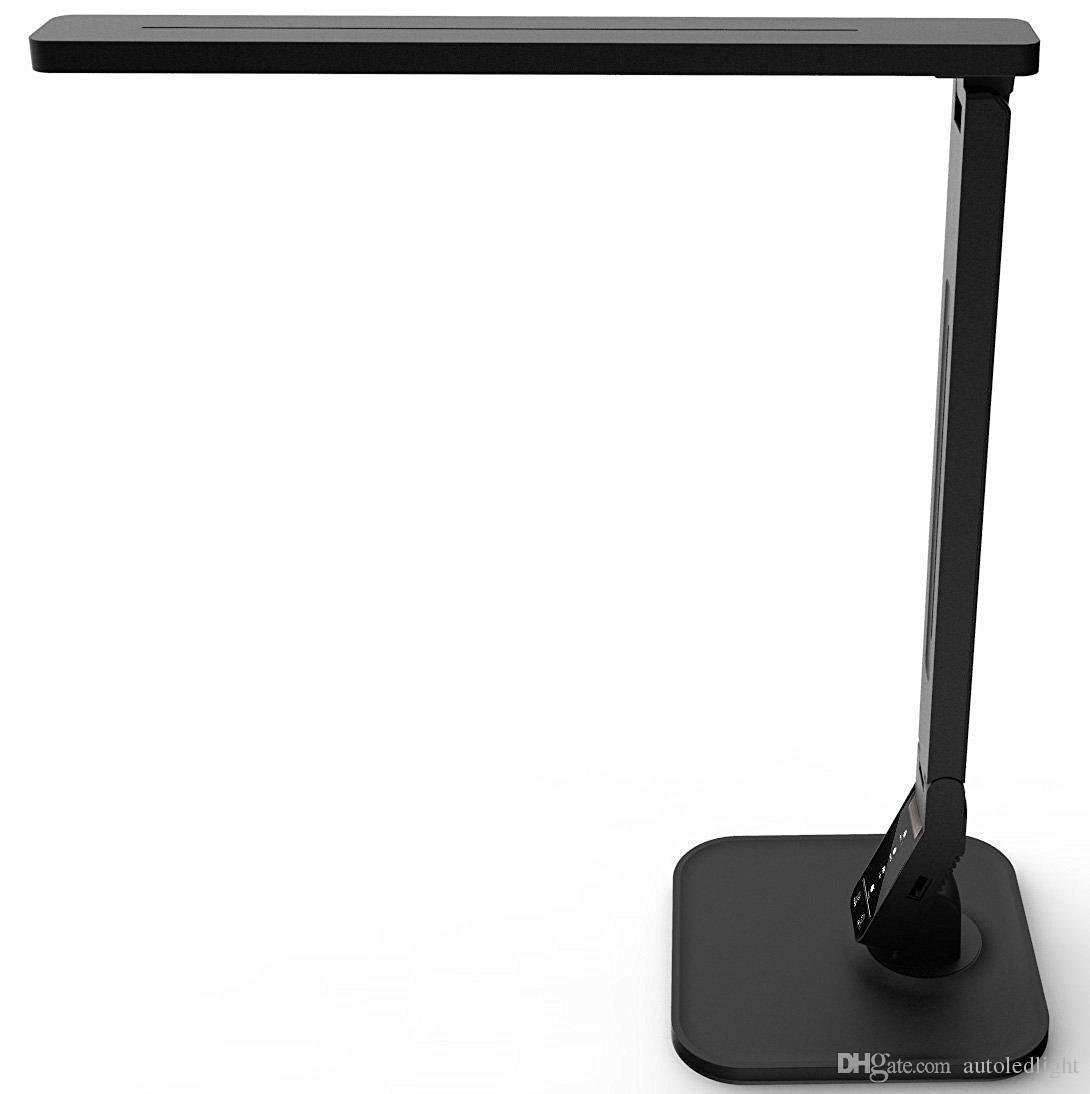 Candeeiro de mesa de escritório Regulável Eye-Care LEVOU Desk Lamp15 W 5-Níveis E 4 tipo de Lâmpada de mesa de iluminação led com DC5V2A USB Porta De Carregamento