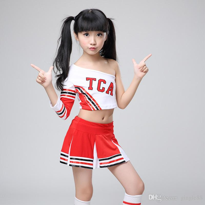 Adulte pom-pom Girl Fancy Dress Crop Top Costume Cheer uniforme tenue High School
