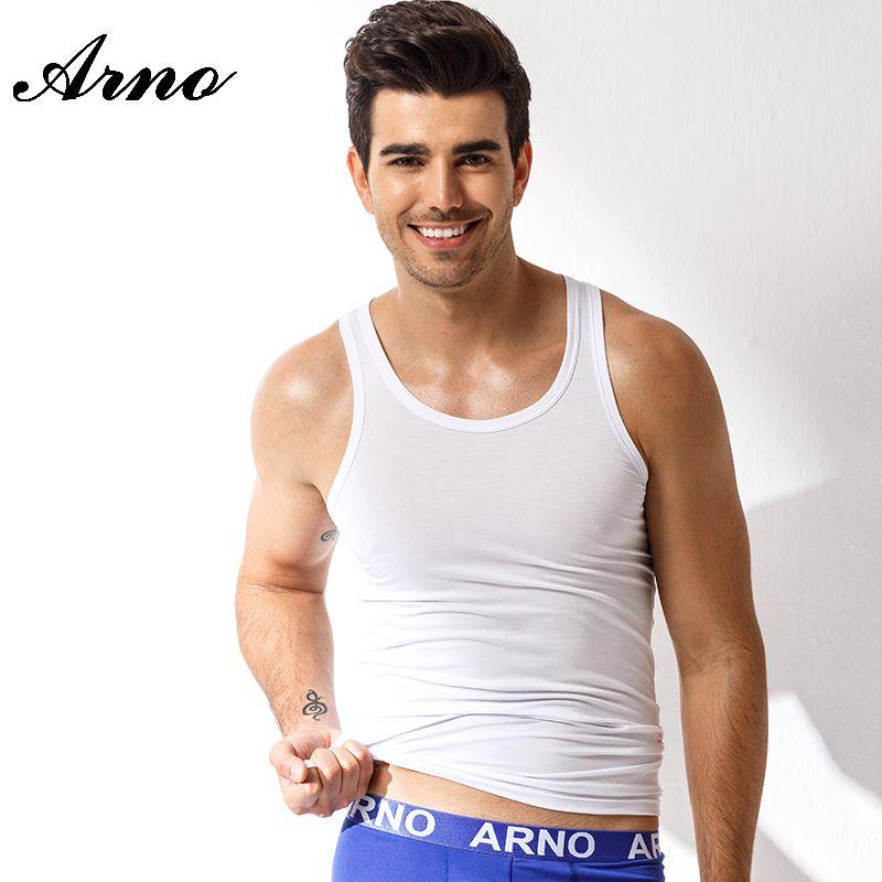 8a2d2b3118cea 2019 Wholesale ARNO Viscose Casual Tank Top Men Summer Casual Vest Man  Sleeveless Shirts Underwear Soft Singlet Breathable Undershirt MV0702 From  Feiyancao