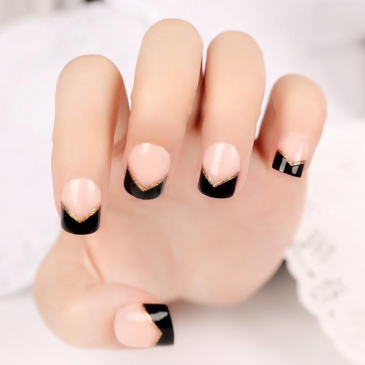 Wholesale Classical French Nail Art Tips Short False Nail Tips Pre