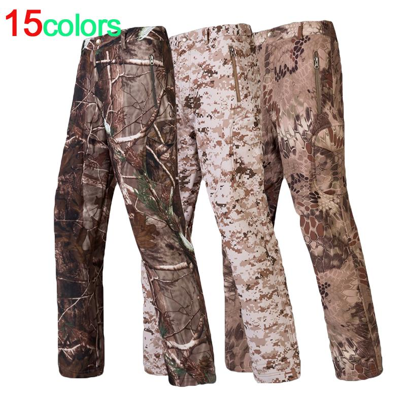 9e5819f637406 2019 Wholesale Shark Skin Softshell Outdoors Tactical He Camouflage Pants  Men Winter Army Waterproof Thermal Camo Hunt Was Fleece Pants From  Morph1ne, ...