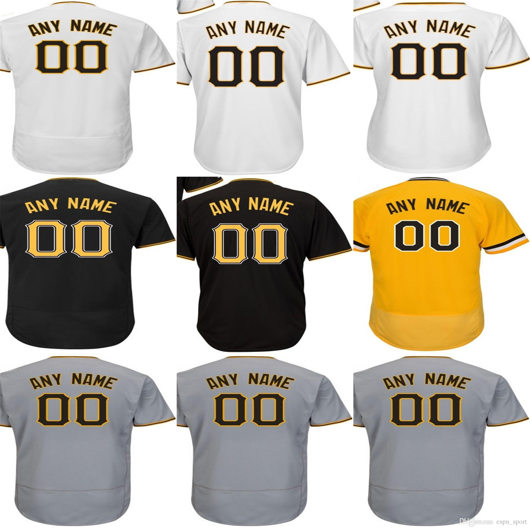 4bb7c4eeb61 2016 New TOP Quality Personalized Pittsburgh Jersey White Gray Black ...