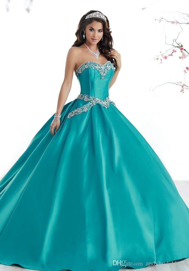 d15d38d87eb Sweet 16 Ball Gowns Simple Design Sweetheart Satin Cheap Quinceanera  Dresses Gowns With Sweep Train ADQ009 Quinceanera White Dresses Red And  White ...