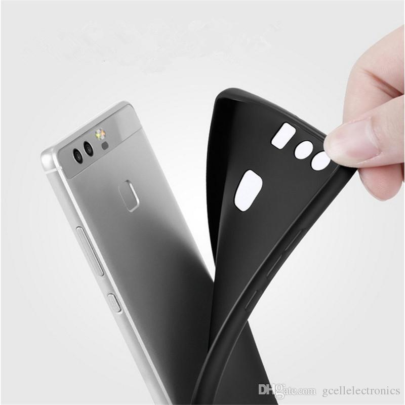 İPhone 12 Pro Max Samsung Galaxy S21 Artı Ultra A02 A12 A52 Kılıfları Xiaomi Poco M3 Mat Kauçuk Siyah TPU Telefon Kılıfı