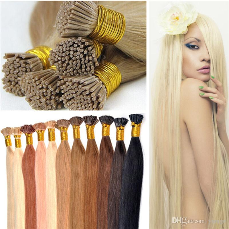Super Cheap Human Hair Extensions Straight Brazilian Remy I Tip