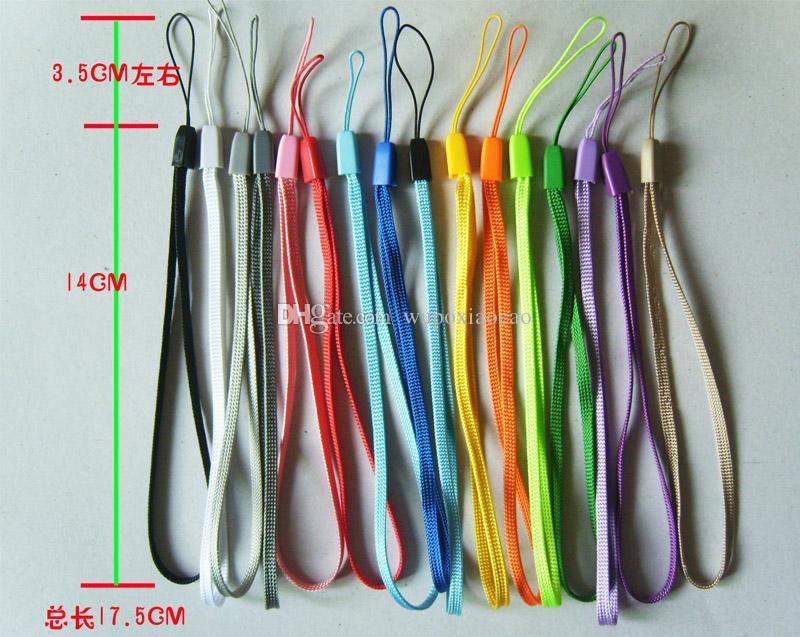 il telefono cellulare della mano del polso ha legato le cinghie di catena il portachiavi i cavi di fascino DIY appende la corda Cordicella del Lariat di nuovo arrivo