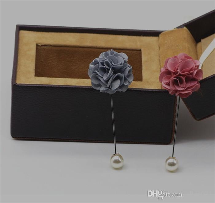 envío mínimo cantidad mínima 10 piezas Broche de flores de tela al por mayor