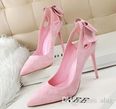 Bowtie Women Wedding Shoes 2017 Bridal High Heels High Heel Elegant Shoes  Woman Women Heels Pumps Casual Women s Shoes NXX39 High Heels Wedding Shoes  Wmen ... 9d7e2630bf8d