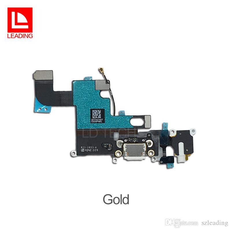 Ladegerät Ladeanschluss Flex Kabel USB Dock Connector für iPhone 6 4,7 Zoll Kopfhörer Audio Jack Mikrofon Band schnelles freies Verschiffen