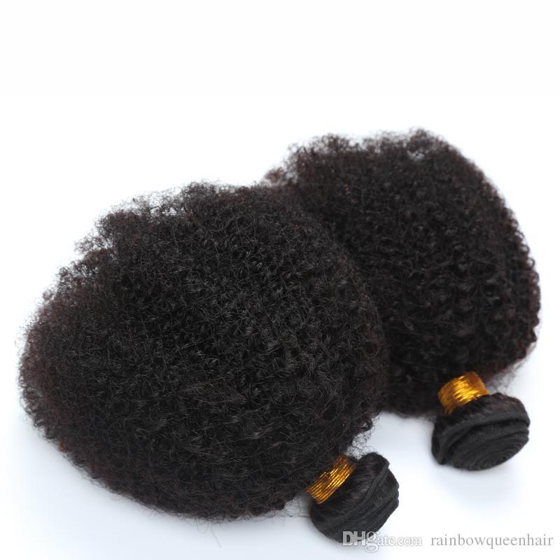 8A brasileña Virgen humana Har 4B 4C Extensión del cabello humano 8A brasileña rizada rizo pelo de la Virgen 3 piezas Afro rizada rizada del cabello humano armadura