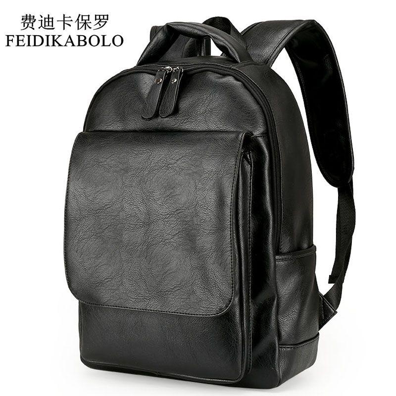 59ee0d36df4c Leather Men Backpack For Man 2017 Backpacks Black Backpacks Male Fashion  Rucksack Schoolbags Black Backpack Business Laptop Bags Best Backpack  Designer ...