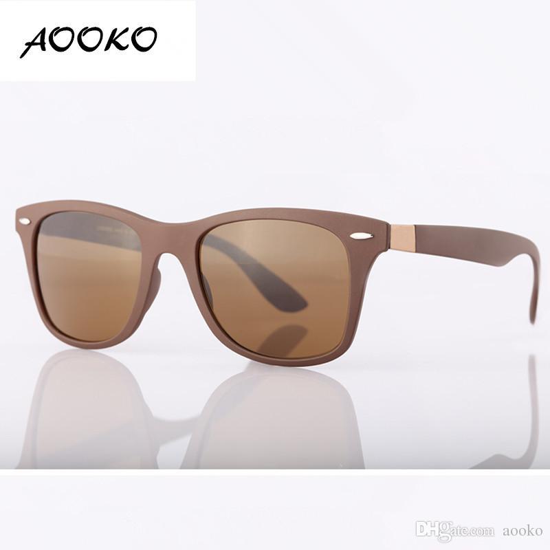 527c2dab658 AOOKO Top Quality UV Protection Square Sunglasses Men Brand Designer ...