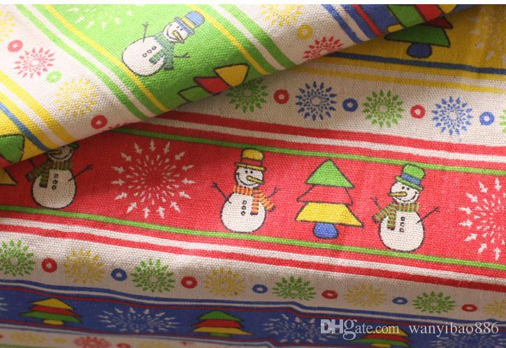 150cm Cotton and linen fabric thick burlap festival Christmas decoration antependium fabric linen sofa cloth by hand