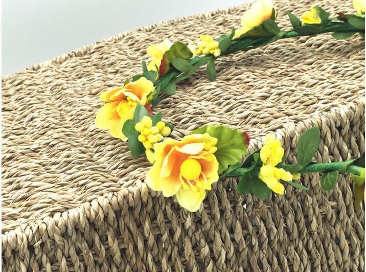 Couronnes De Cheveux Bohème Fleur Bandeaux Femmes Artificielle Floral Bandeaux Mode Chapeaux pour les Filles Cheveux Accessoires Plage De Mariage Guirlandes