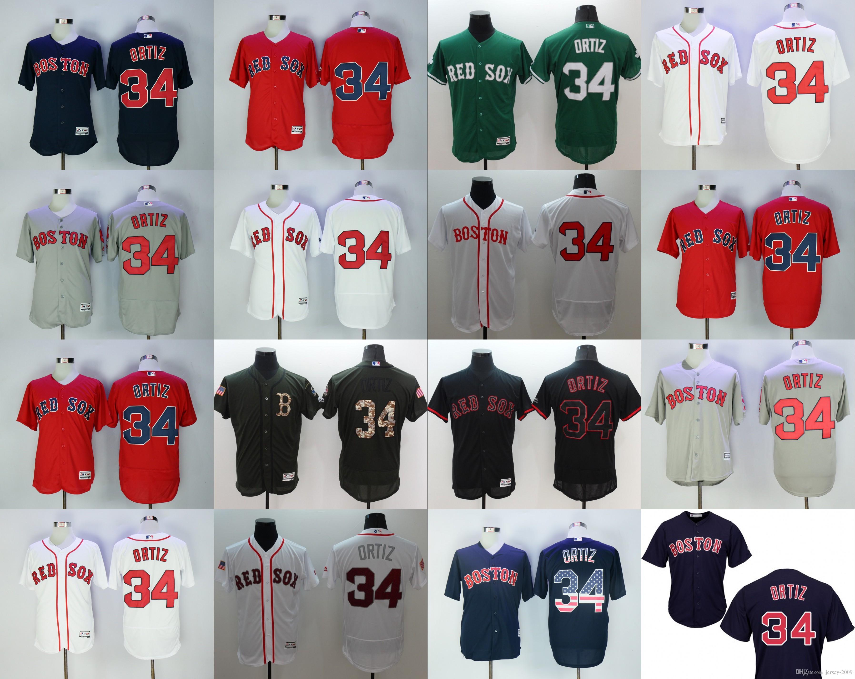 new styles 23834 81bb0 boston red sox 34 david ortiz navy blue jersey