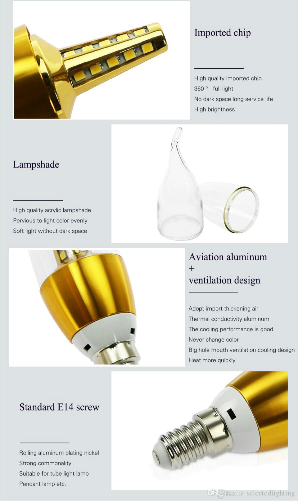 High Lumens Led Bulb E14 SMD2835 Energy Saving Lamp Led Candle Light 5W 7W 220V 110V Home Lighting Led Lamp