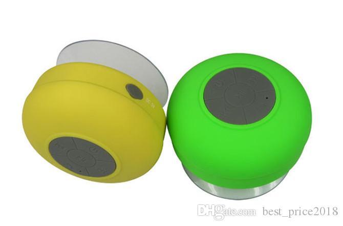 2018 chuveiro à prova d 'água bluetooth speaker mini alto-falantes handsfree sem fio bluetooth para ipad iphone 6 plus 5s samsung note 4 dropshiping