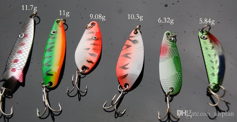 métal dur appât Spinnerbaits Sequin cuillère en métal Pêche Leurre Convient pour eau douce et eau salée 1606317