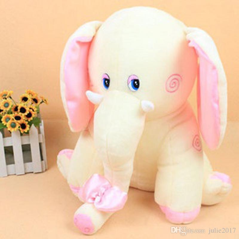 Plush Elephant Kids Loved Toy Pink Blue Colors Animals Elephant Doll