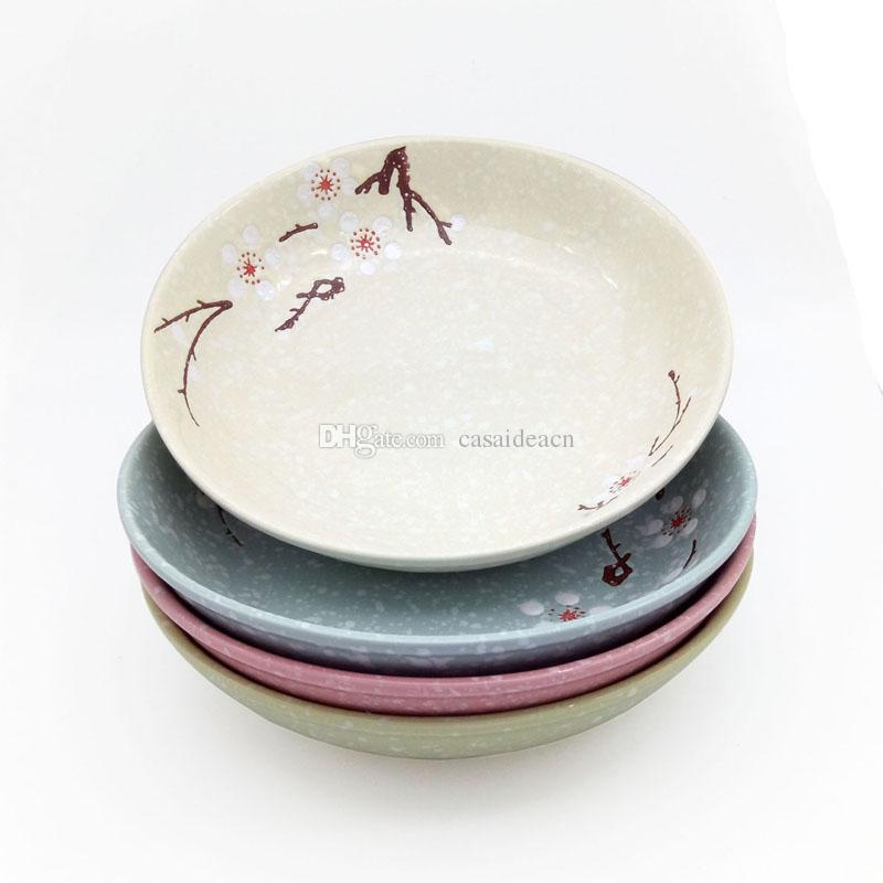 2018 Cherry Blossom Dinner Plate Set 7 Inch Japanese Ceramic Sushi Plates Of Assorted Snowflake Color Glaze Pink Blue Green Grey From Casaideacn ...  sc 1 st  DHgate.com & 2018 Cherry Blossom Dinner Plate Set 7 Inch Japanese Ceramic Sushi ...