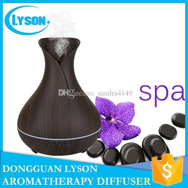 i LED Mood Mist 300ml ultrasuoni olio essenziale aromaterapia diffusore fresco nebbia aroma di legno aroma umidificatore diffusore