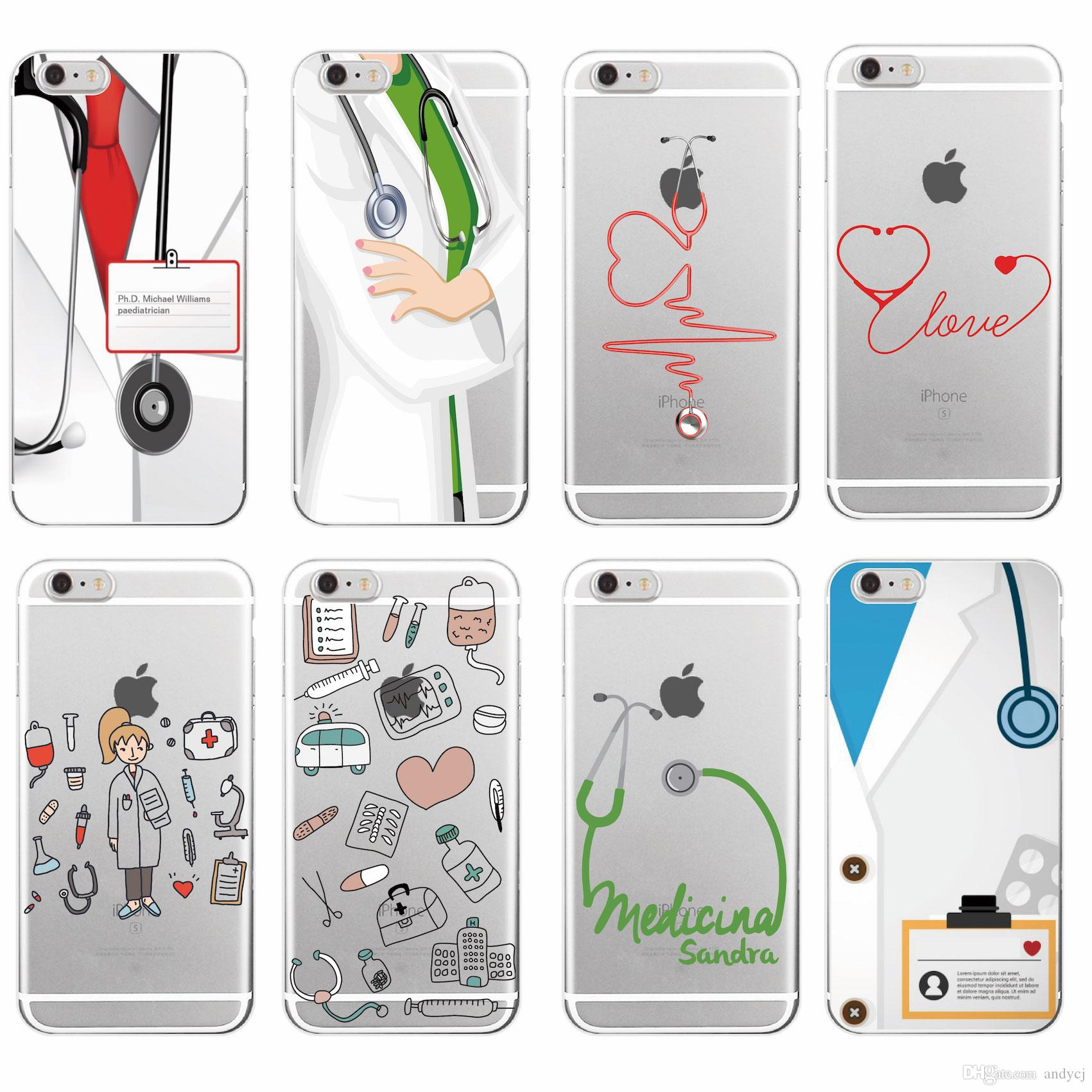 Nurse Medical Medicine Health Heart Soft TPU Phone Case Cover For iPhone 7  7Plus 6 6S 5SE 8 8Plus X XS Max