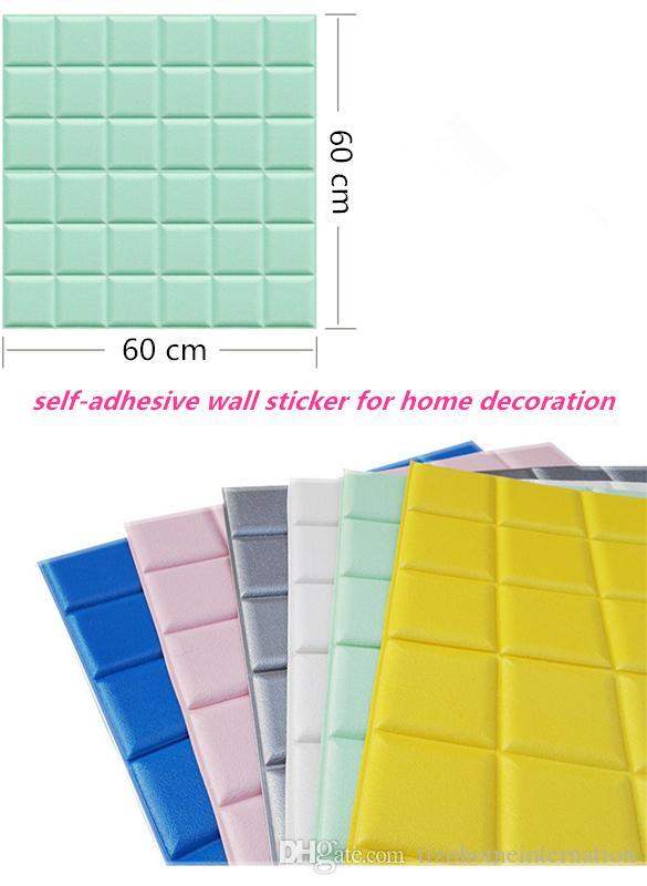 60x60cm pe foam wall stickers patterns 3d wallpaper diy wall decor