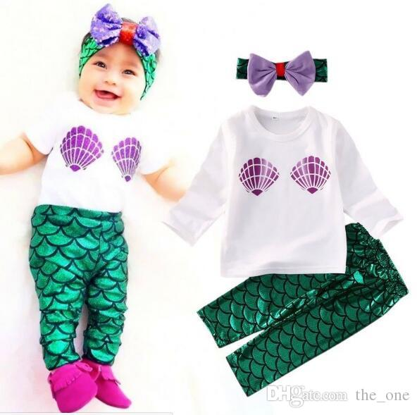 Exceptional 2019 Baby Girl Clothing Set The Little Mermaid Ariel Kids Girl Clothes  Children Clothing Cosplay Halloween Costume From The_one, $5.66 | DHgate.Com