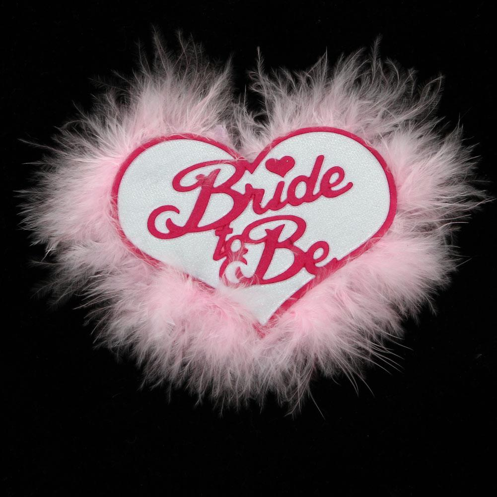 Wholesale 60% Off For Wedding Events Pink Feather Bride To Be Badge ...