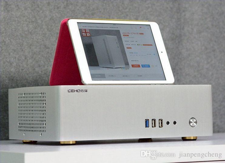 حالة الألومنيوم الكمبيوتر لمصغرة الفضة سحر مكعب ITX 3.0usb Wiredrawing لأسود + أبيض مع السلطة