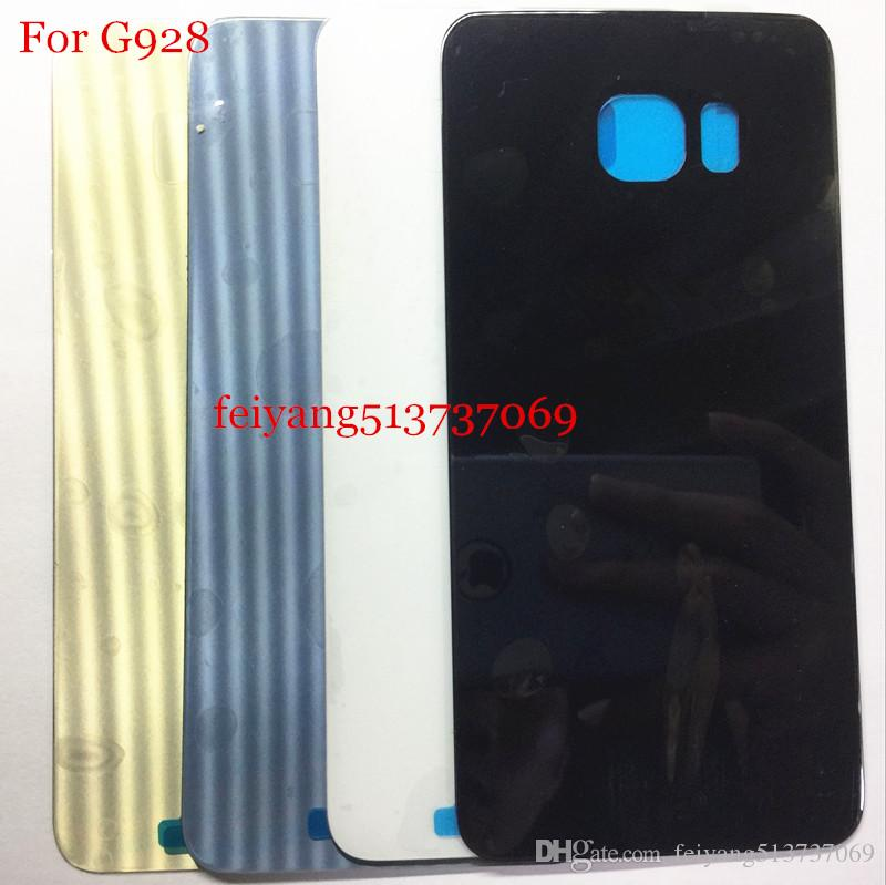 100 adet OEM Samsung Galaxy S6 Için Bir kalite G920 S6 kenar g925 kenar artı g928 arka kapak cam Pil Kapı Konut + Yapıştırıcı Sticker