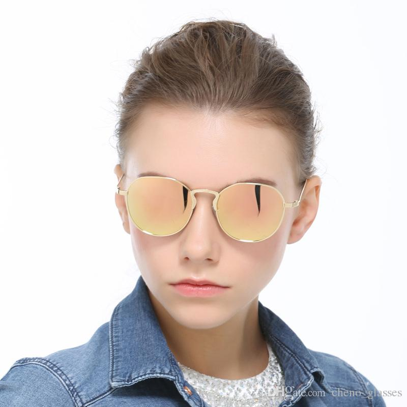 fe17142177d Retro Round Polarized Sunglasses Women Men Brand Driving Sun Glasses Alloy  Frame UV400 Shades Lunettes De Soleil Femme Homme Round Sunglasses Cheap ...