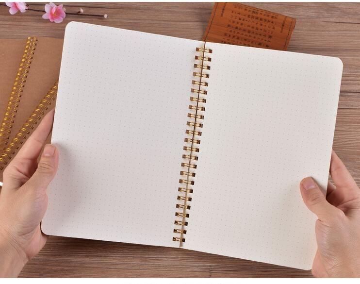 Papier Kraft bloc-notes grille conception de points dessin animation conception papier livre croquis brouillons cahiers de peinture art Bobine livre cadeau promotionnel