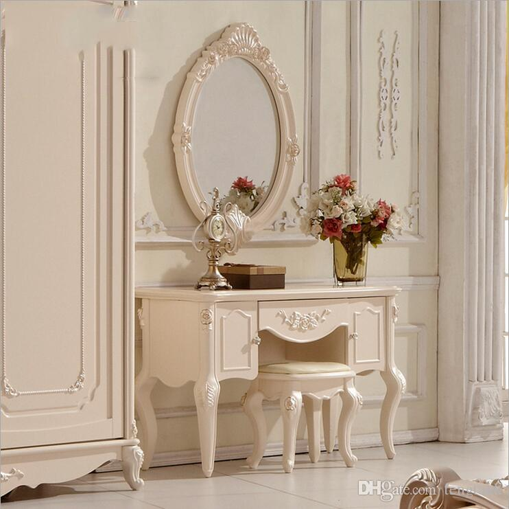 Factory Price RoyalEuropean Mirror Table Modern Bedroom Dresser French  Furniture White French Dressing Table P10204 Dresser Mirror Table Online  With ...