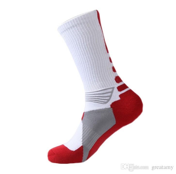 حار المهنية النخبة كرة السلة الجوارب طويلة الركبة الرياضية الرياضية الجوارب الرجال الأزياء ضغط الشتاء الحراري الجوارب بالجملة