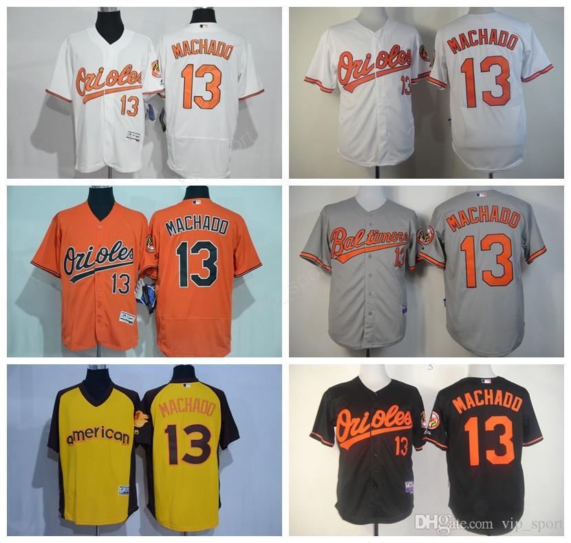 12c1125f463 ... Majestic 2017 Baltimore Orioles 13 Manny Machado Jersey Throwback All  Star Usa Flag Machado Baseball Jerseys Flexbase ...