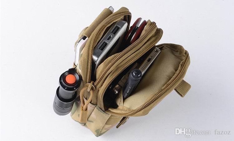 Utility Tactical Molle System Compatible Fanny Pack Military Belt Waist Bag Zipper Pouch Pocket Outdoor Sports Hip Bum Bags Cell Phone Case