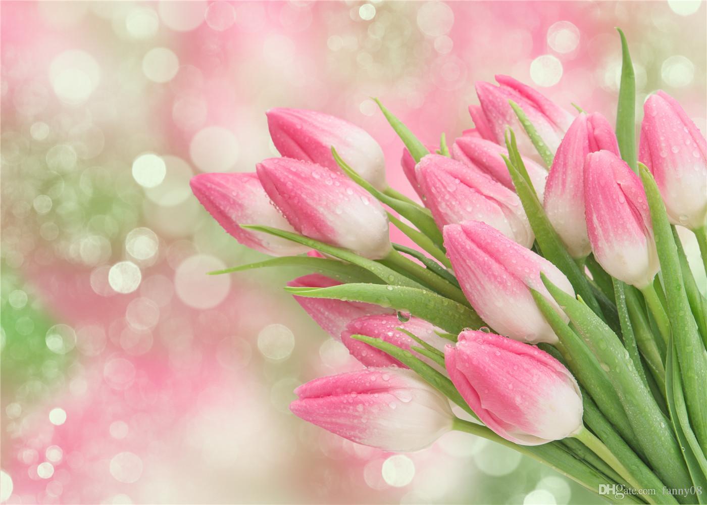 2018 Susu Wrinkles Free Pink Photography Background Spring Glitter