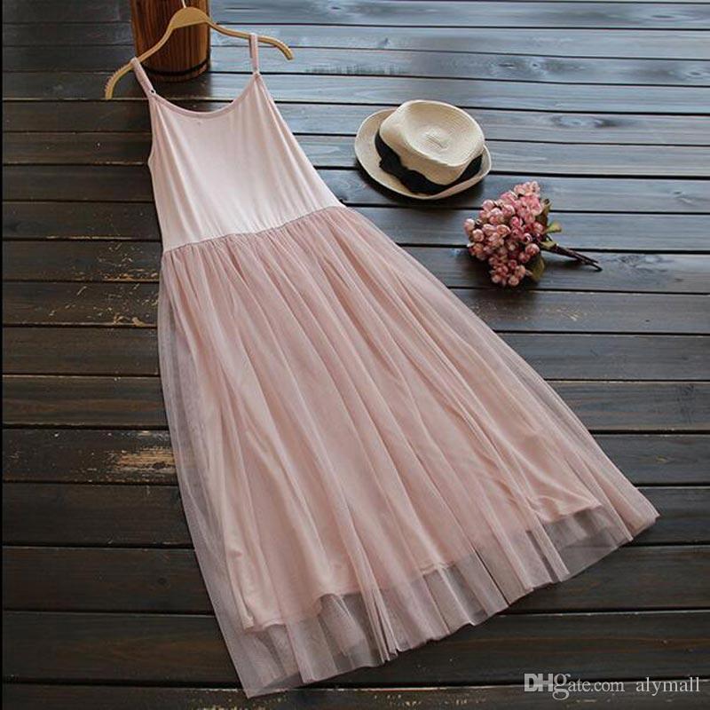 e42b5dcf414 Mori Girl Style Lolita Vintage Spaghetti Strap Lace Basic Dress Women  Casual Cothing Summer Dresses Vestidos Oncinha Faldas Online with   18.29 Piece on ...