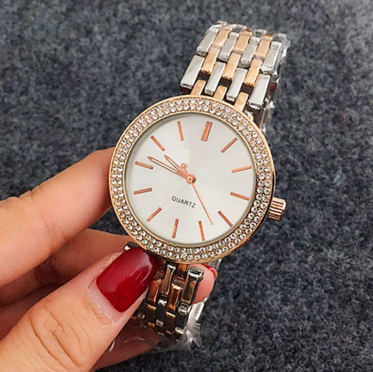 67172ba4381 Compre Reloj Aaa Moda Senhoras Vestido Rose Relógio De Ouro Novo Modelo Top  Marca De Luxo Diamante Mulheres Relógios De Prata Pulseira De Aço  Inoxidável ...