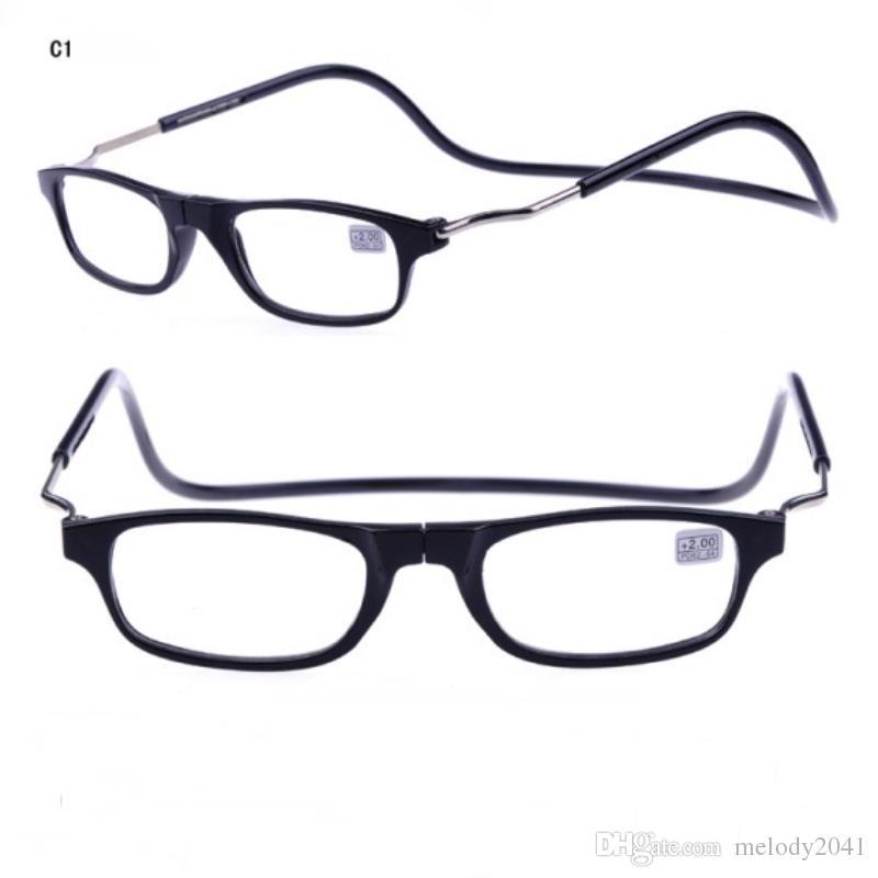 cc5ac7c0349 New Clic Reading Glasses Magnetic Stone On Nose Fashion Reading Eyewear  Hang Neck Cheap Wholesale Glasses Shop Big Reading Glasses Borghese Reading  Glasses ...