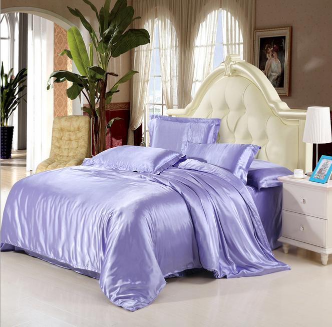 Wholesale Luxury Mulberry Silk Bedding Sets Duvet Cover Bedspread Bed Sheet  King/Queen/Full Size Silk Bedding Clearance Duvet Covers Blue Duvet Cover  King ...