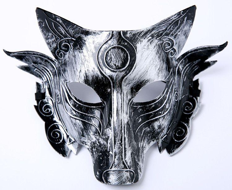 Lobo partido máscara máscaras partido de la mascarada de Halloween lobos baile de disfraces de adultos para decoración de la barra del partido del traje --- FP1028