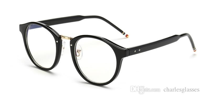 63d400712a Acetate Plain Optical Frames Men women Fashion Vintage Round Shape ...
