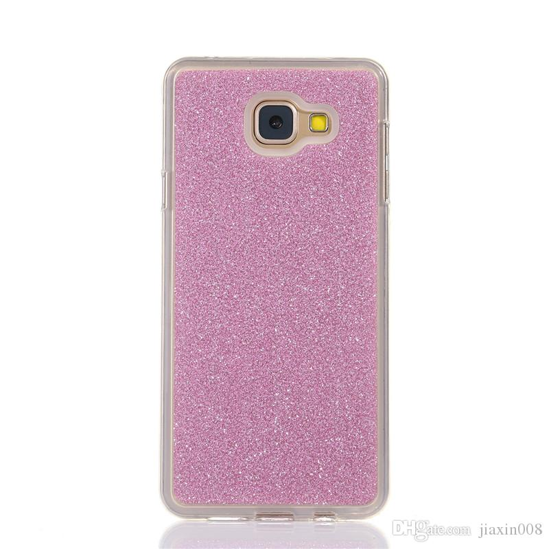 timeless design bd0b2 7051a For Samsung Galaxy J5 Prime Cover Fashion Bling Glitter Gradient Mobile  Phone Case Soft TPU Frosted Shimmering powder Phone Case