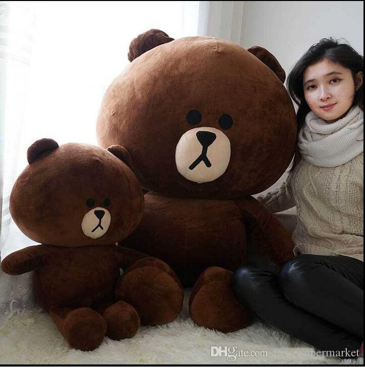 Hot Item! Line Office 47'' / 120cm Giant Stuffed Soft Plush Huge Cute Brown Bear,