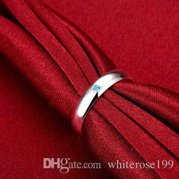 도매 - 소매 최저 가격 크리스마스 선물, 무료 배송, 새로운 925 실버 패션 반지 R105