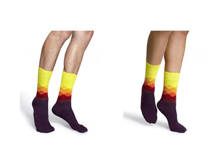 2017 männlichen flut marke happy socks farbverlauf sommer stil baumwolle hochzeit socke männer kniehohe business socken mann sox