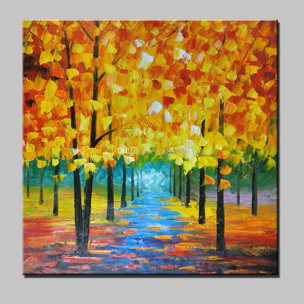 Best Large Modern Fashion Simple Pure Hand Painted Oil Painting Art On Canvas Home Decoration Abstract Scenery Tree Unframed Under 1953